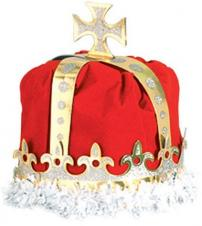 Royal King Crown Red Velvet