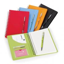 NeoSkin® Spiral Journal Combo w/ Elastic Pen Loop on Cover