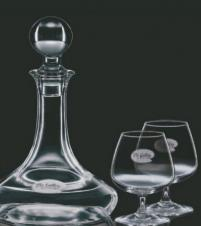 Elegance Decanter with 2 Brandy Glasses