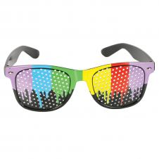 Rainbow Mesh Lens Glasses