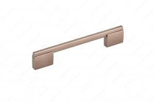 Poignée contemporaine en métal - 7990 - 192 mm - Bronze oriental