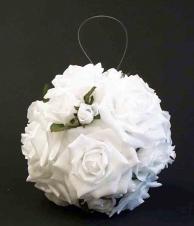 Boule de roses 7 - Blanche