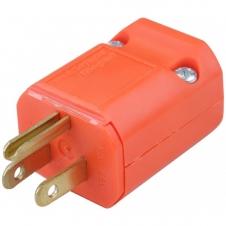 Embout de prise de courant - Mâle - Nema 5-15P - 15A - 16-14 AWG - Orange