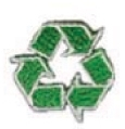 Embroidered Stock Appliques - Recycle Symbol