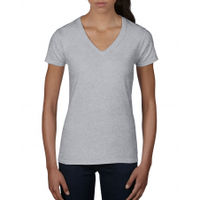 ANVIL - 88VL - T-Shirt Col en V Léger pour femme - 7.5 oz - Gris Cendré - Large