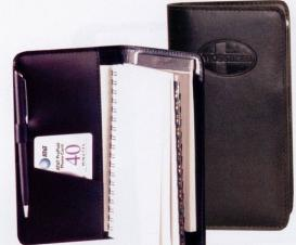 Stitched Weekly Planner/ Address Book & Pad (Stock Leather)