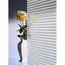 Window Films - Decorative Films - White Films - INT 212 - Whites Stripes of 13 mm