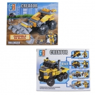 Ensemble de blocs - Bulldozer - 48 pièces