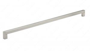 Poignée contemporaine en acier inoxydable - 520 - 576 mm - Nickel brossé